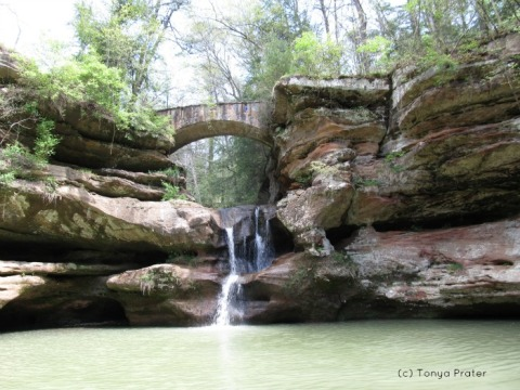 The Upper Falls, perhaps the most photographed waterfall in Hocking Hills.