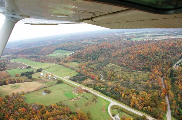 BrittReints plane view of fall