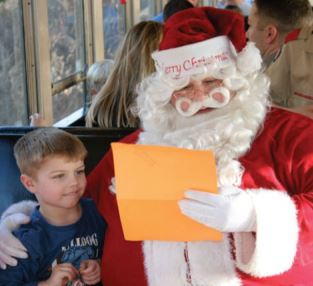 Santa Train (photo courtesy Hocking Valley Scenic Railroad)